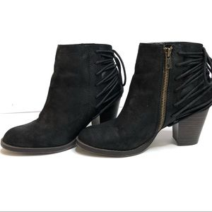 SM New York Emmy Faux Suede Black Booties Size 8